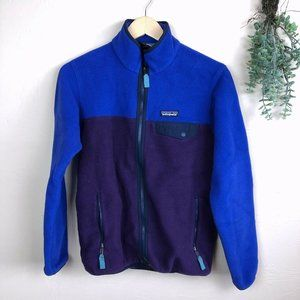 Patagonia Full Zip Fleece Snap-T Colorblock Purple
